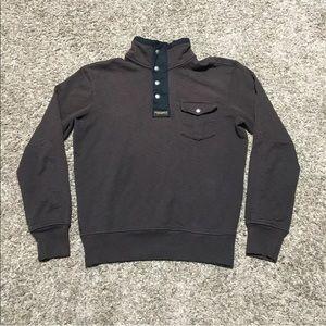 Polo Ralph Lauren Shirt Mock Neck Dark Burgundy